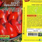 Детерминантный томат Букет Сибири: описание сорта
