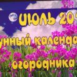 Лунный Календарь. Огородника На ИЮЛЬ 2020 ?Посевной Календарь. Что и Когда делать Благоприятные дни