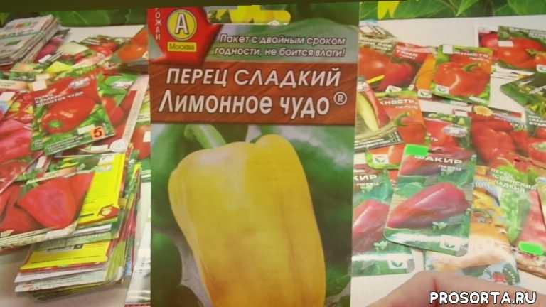 сад огород посевы перцы сорт лимонное чудо
